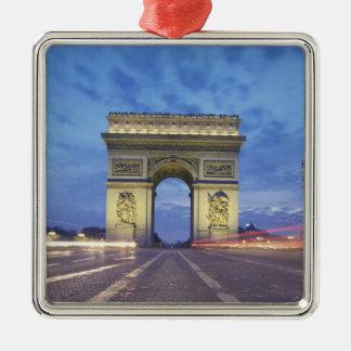 Europe, France, Paris. Arc de Triomphe as viewed Ornament