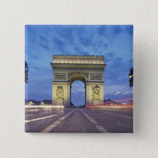 Europe, France, Paris. Arc de Triomphe as viewed Pinback Button
