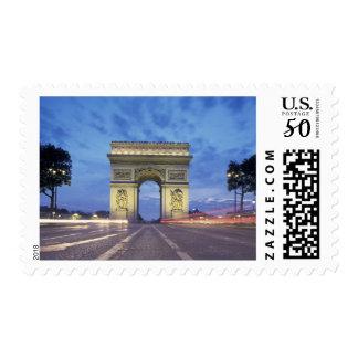 Europe, France, Paris. Arc de Triomphe as viewed Postage
