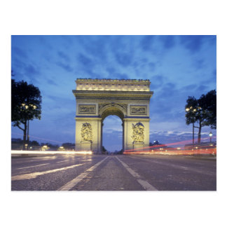 Europe, France, Paris. Arc de Triomphe as viewed Postcard