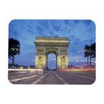 Europe, France, Paris. Arc de Triomphe as viewed Rectangular Photo Magnet