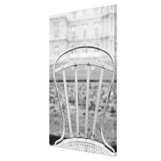 Europe, France, Paris. Chair, Jardin du Canvas Prints