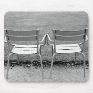 Europe, France, Paris. Chairs, Jardin du 2 Mouse Pad