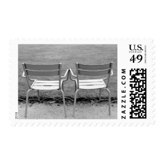 Europe, France, Paris. Chairs, Jardin du 2 Postage