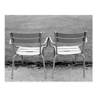Europe, France, Paris. Chairs, Jardin du 2 Postcard
