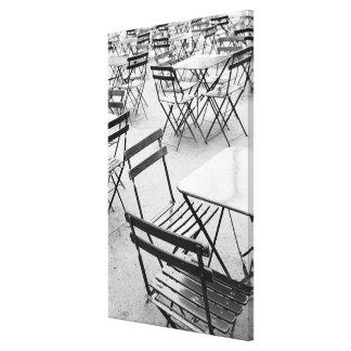Europe, France, Paris. Chairs, Jardin du 3 Canvas Print