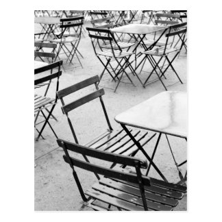 Europe, France, Paris. Chairs, Jardin du 3 Postcard