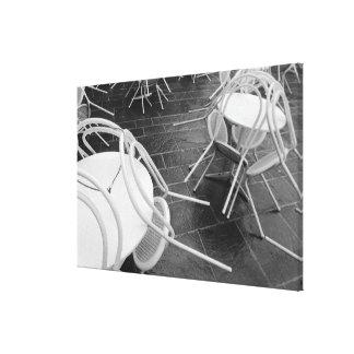 Europe, France, Paris. Chairs, Jardin du 4 Stretched Canvas Print