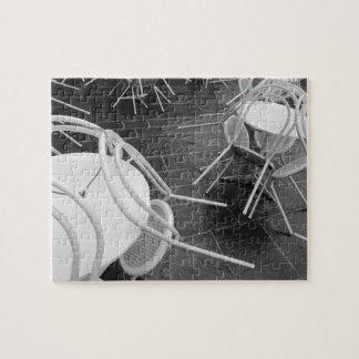 Europe, France, Paris. Chairs, Jardin du 4 Puzzle