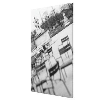 Europe, France, Paris. Chairs, Jardin du Stretched Canvas Prints