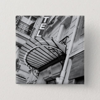 Europe, France, Paris. Detail of Left Bank hotel Pinback Button