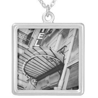 Europe, France, Paris. Detail of Left Bank hotel Silver Plated Necklace