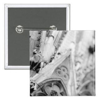 Europe, France, Paris. Detail: sculpture on Pinback Button