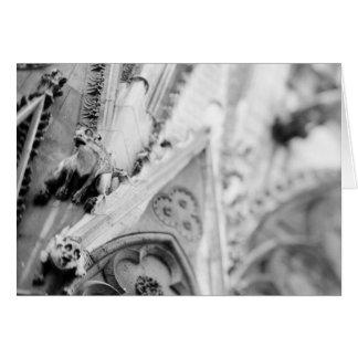 Europe, France, Paris. Detail: sculpture on Card