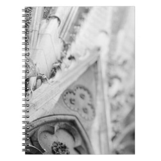 Europe, France, Paris. Detail: sculpture on Spiral Notebook