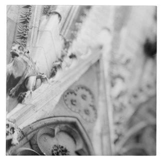 Europe, France, Paris. Detail: sculpture on Tile