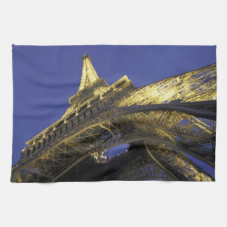 Europe, France, Paris, Eiffel Tower, evening 2 Kitchen Towels