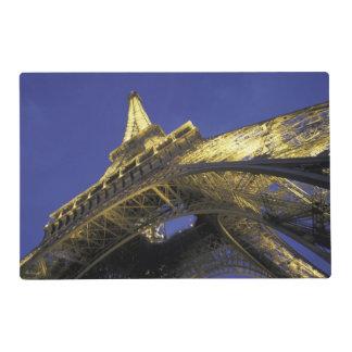 Europe, France, Paris, Eiffel Tower, evening 2 Laminated Place Mat