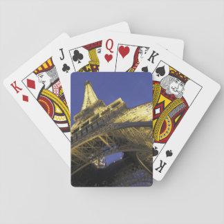 Europe, France, Paris, Eiffel Tower, evening 2 Poker Cards