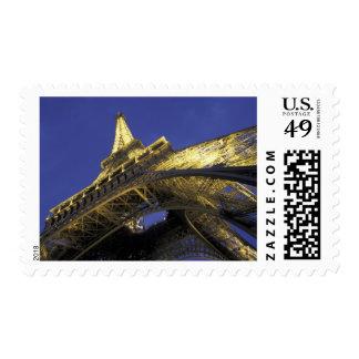 Europe, France, Paris, Eiffel Tower, evening 2 Postage