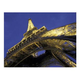 Europe, France, Paris, Eiffel Tower, evening 2 Postcard