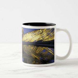 Europe, France, Paris, Eiffel Tower, evening 2 Two-Tone Coffee Mug