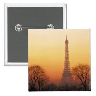 Europe, France, Paris. Eiffel Tower (Medium Pinback Button