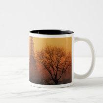 Europe, France, Paris. Eiffel Tower (Medium Two-Tone Coffee Mug