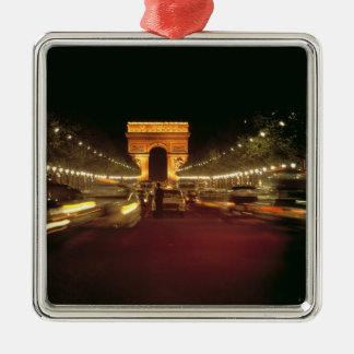 Europe, France, Paris. Evening traffic rushes Christmas Tree Ornament