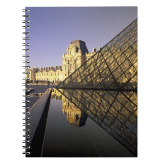 Europe, France, Paris. Le Louvre and glass Spiral Notebooks