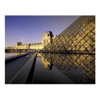 Europe, France, Paris. Le Louvre and glass Postcard