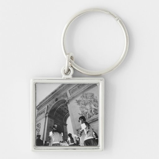 Europe, France, Paris. Military ceremony at the Keychains