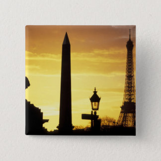 Europe, France, Paris, Place de Concorde. Pinback Button