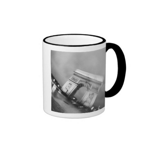 Europe, France, Paris. Spinning Arc de Triomphe Coffee Mugs