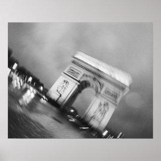 Europe, France, Paris. Spinning Arc de Triomphe Poster