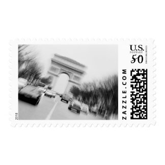 Europe, France, Paris. Spinning Champs Elysees, Postage