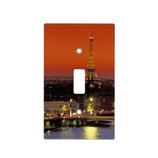 Europe, France, Paris. Sunset view of Eiffel Light Switch Cover