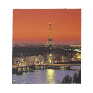 Europe, France, Paris. Sunset view of Eiffel Notepad
