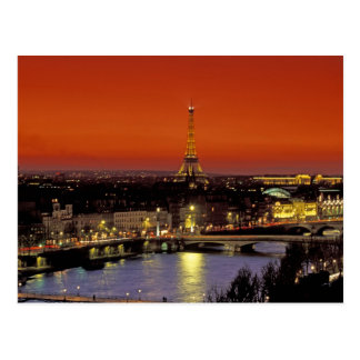 Europe, France, Paris. Sunset view of Eiffel Postcard
