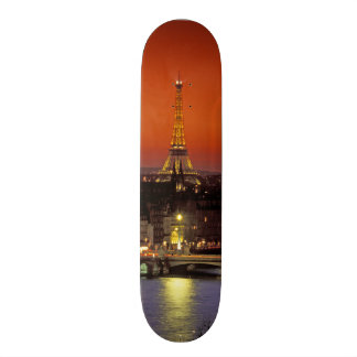 Europe, France, Paris. Sunset view of Eiffel Skateboard