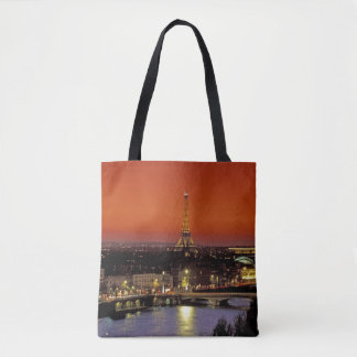 Europe, France, Paris. Sunset view of Eiffel Tote Bag