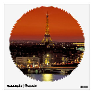 Europe, France, Paris. Sunset view of Eiffel Wall Decal