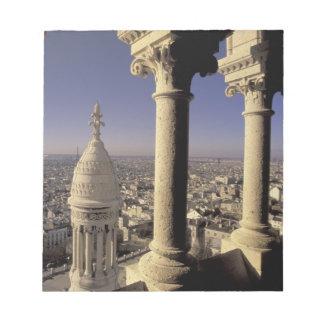 Europe, France, Paris, View of Paris through Notepad