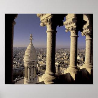 Europe, France, Paris, View of Paris through Print