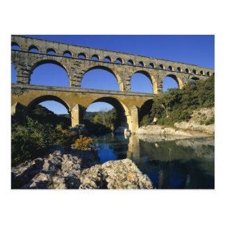 Europe, France, Pont du Gard. Pont du Gard, Postcard