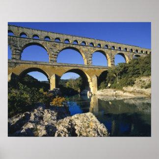 Europe, France, Pont du Gard. Pont du Gard, Poster