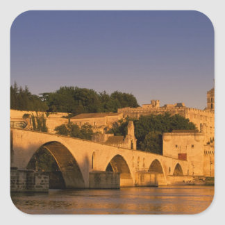 Europe, France, Provence, Avignon. Palais des 2 Square Sticker