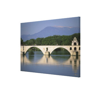 Europe, France, Provence, Avignon. Pont St, 2 Canvas Print