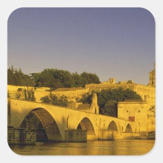 Europe, France, Provence, Avignon. Pont St, 2 Square Sticker