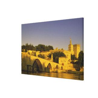 Europe, France, Provence, Avignon. Pont St, Canvas Print